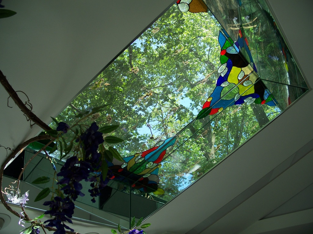 House of Illusion - Close-Up: 4' X 4' Kaleidoscopic Skylight Bathes Chef in Rainbow Rays